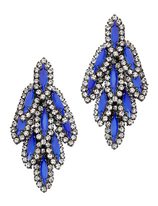 Bacall Blue Embellished Earrings