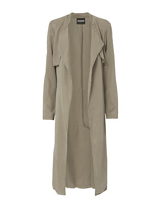 Monrow Long Twill Trench Jacket