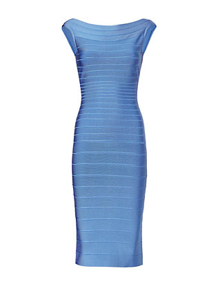 Herve Leger Boatneck Bandage Dress