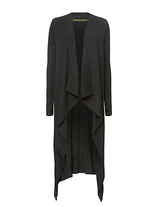Enza Costa Ribbed Maxi Cardigan