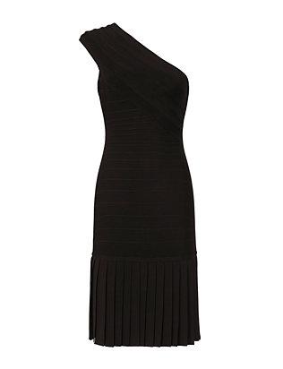 One Shoulder Fringe Bandage Dress