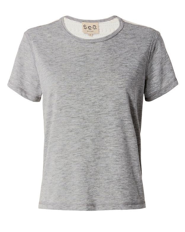 Sea EXCLUSIVE Lace Back Tee: Grey