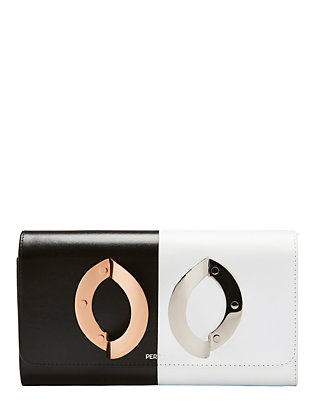 Perrin La Croisiere Two-Tone Leather Clutch