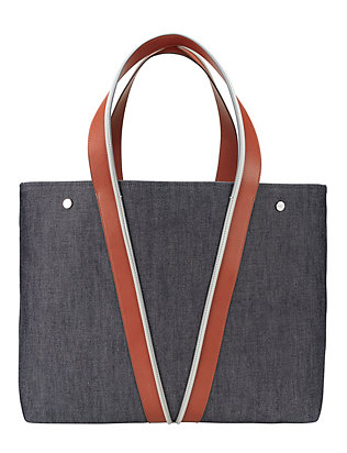 Vince Large V Center Denim Tote