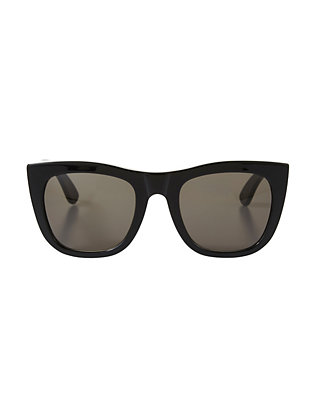 SUPER Sunglasses Gals Matte Black Sunglasses