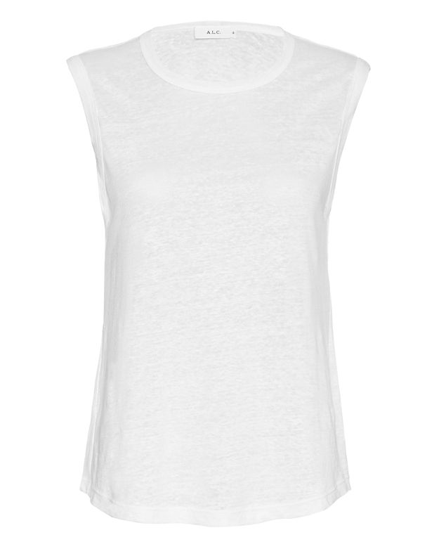 A.L.C. EXCLUSIVE Slashback Tank: White