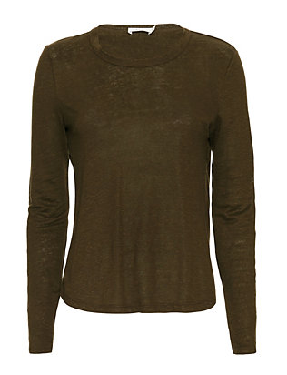 A.L.C. EXCLUSIVE Long-Sleeve Cross-Back Top
