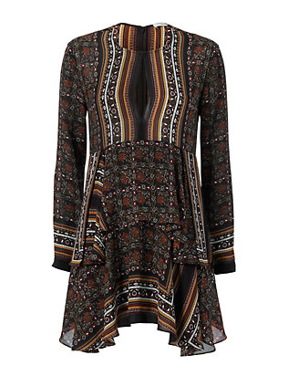 Vicki Scarf Print Dress
