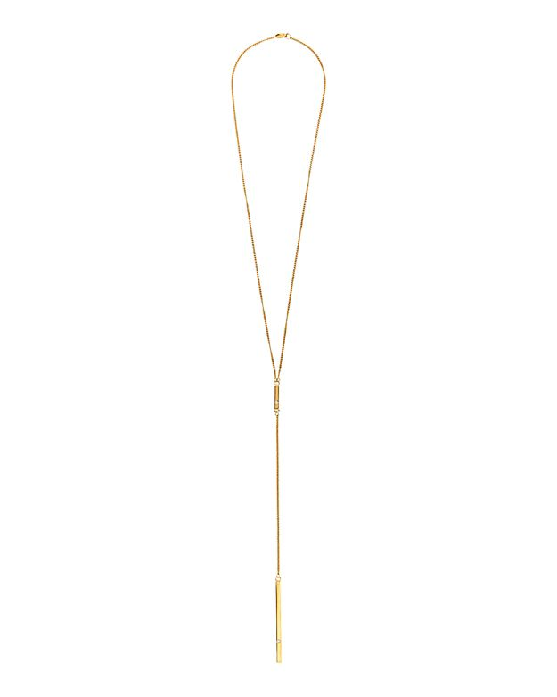Jennifer Zeuner EXCLUSIVE Hanging Bar Necklace with Diamonds