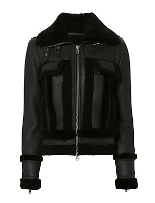 Exclusive for Intermix Megan Shearling Lamb Black Jacket