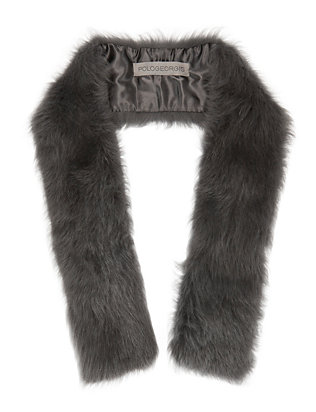 Toscana Grey Shearling Lamb Pull Through Scarf