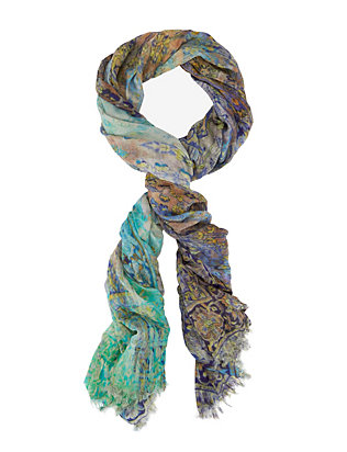 Luisa Brini Tapestry Print Watercolor Scarf