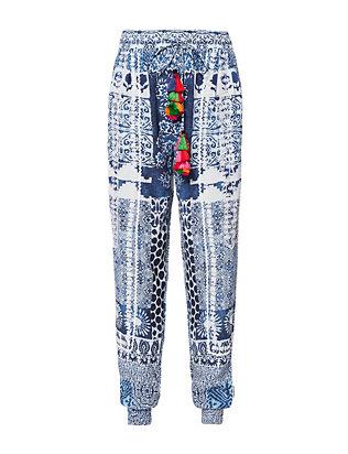 Inked Tassel Tie Pants