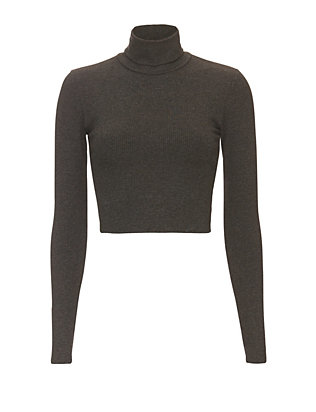 Nadia Tarr EXCLUSIVE Ribbed Crop Turtleneck