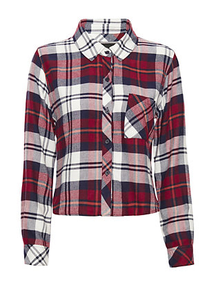 Rails EXCLUSIVE Cropped Plaid Shirt: Wine