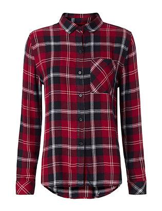 Plaid Cranberry/Navy Shirt