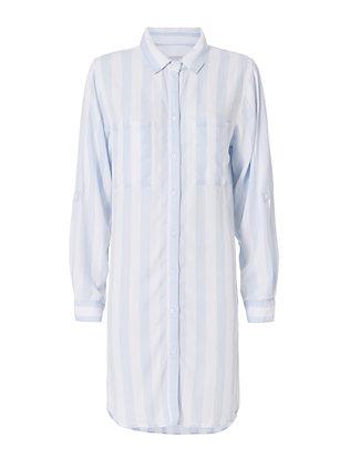 Alex Striped Shirt Dress