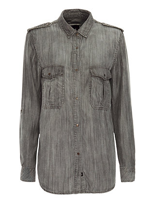 Rails EXCLUSIVE Adrianne Shirt: Grey