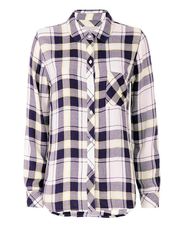 Rails EXCLUSIVE Plaid Shirt: Navy/Yellow