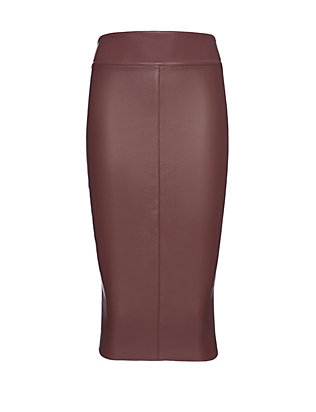 Bailey 44 EXCLUSIVE Faux Leather Pencil Skirt: Wine