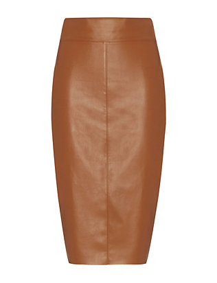 Bailey 44 EXCLUSIVE Faux Leather Pencil Skirt: Cognac