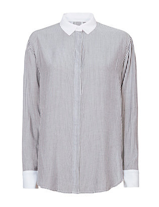 Tatum Back Button Stripe Shirt