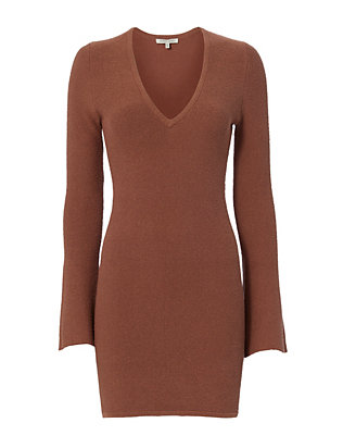 Ronny Kobo Deep V Dress
