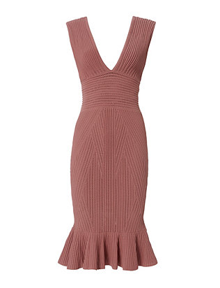 Ronny Kobo EXCLUSIVE Octavia Trumpet Hem Knit Dress