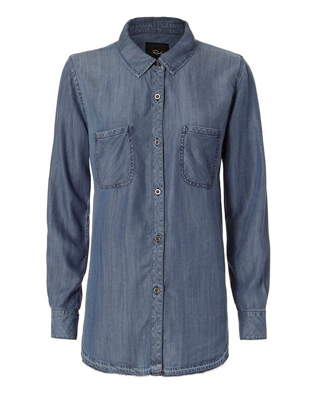 Rails Raw Edge Denim Shirt