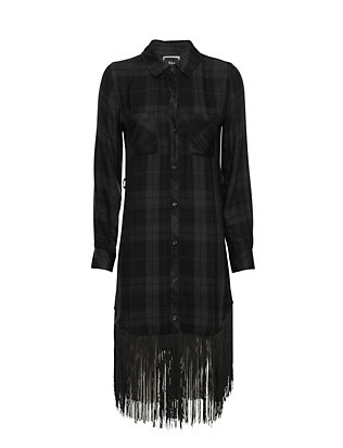 Rails EXCLUSIVE Fringe Hem Shirt Dress