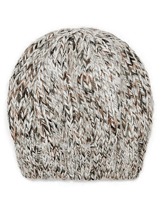 Lurex Ivory Knit Hat