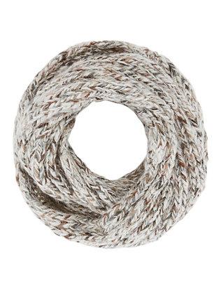Lurex Knit Infinity Scarf