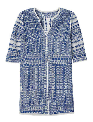 Love Sam EXCLUSIVE Embroidery Tunic: Blue