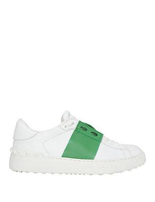 Green Stripe Leather Sneaker