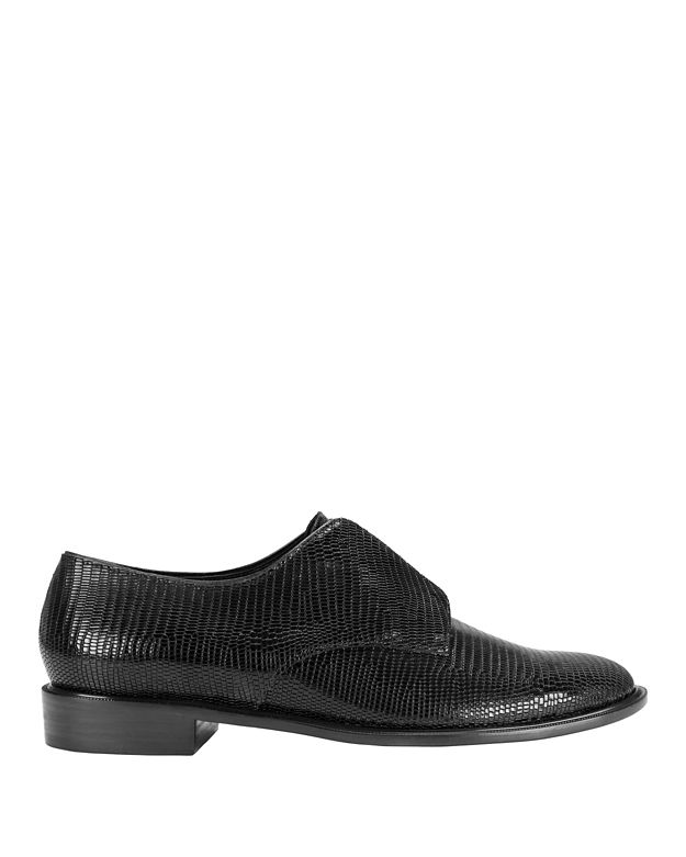 Robert Clergerie Jamo Croc Embossed Leather Slip On Loafer