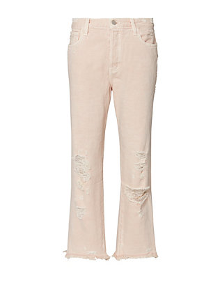 J Brand Ivy High Rise Crop Straight Jeans