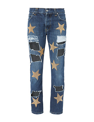 History Repeats Ripped Star Patch Jeans