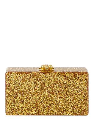 Jean Gold Confetti Clutch