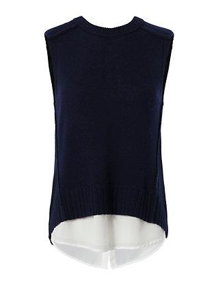 Layered Sleeveless Knit