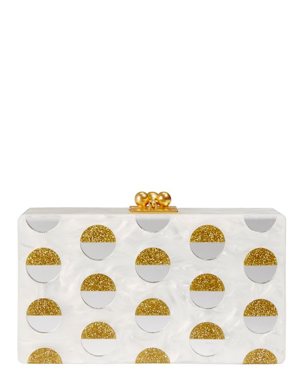Edie Parker Jean Double Dot Clutch