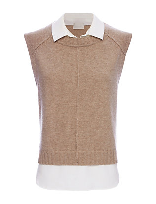 Brochu Walker EXCLUSIVE Collar Combo Sleeveless Sweater