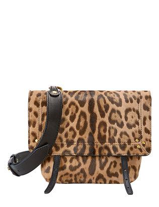 Jeremie Leopard Haircalf Shoulder Bag