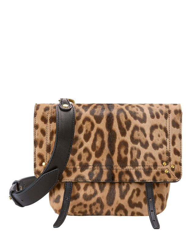 Jerome Dreyfuss Jeremie Leopard Haircalf Shoulder Bag