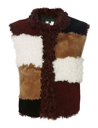 Patchwork Shearling Lamb Vest