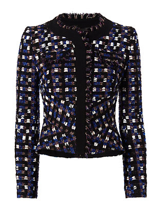 Tweed Jacket: Violet