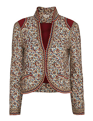 Talitha Fitted Paisley Print Jacket