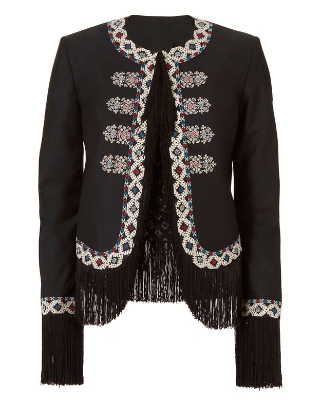 Talitha Zoe Diamond Embroidery Jacket