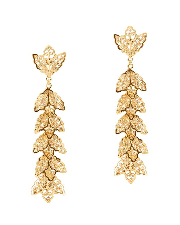 Mallarino Johanna Large Leaf Drop Earrings