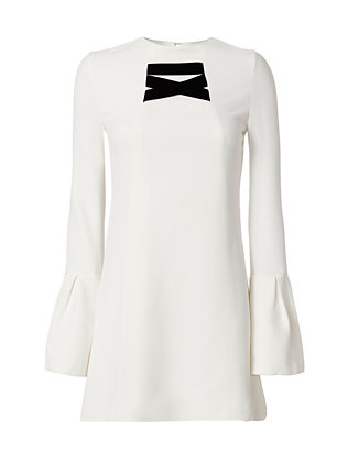 Alexis Josephine Velvet Detail Flare Sleeve Dress