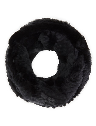 Jocelyn Rex Rabbit Fur Infinity Scarf